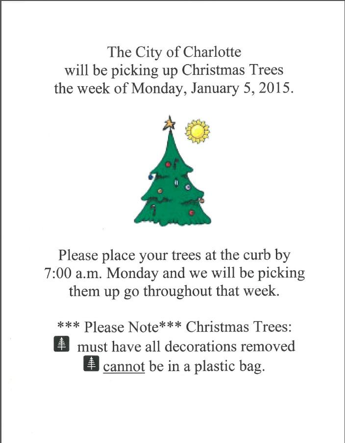 Christimas Tree Pickup 2015