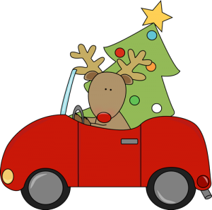 reindeer-hauling-christmas-tree-in-car