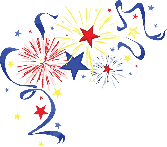 May The 4th Be With You Clip Art: 4th-of-july-fireworks-clipart