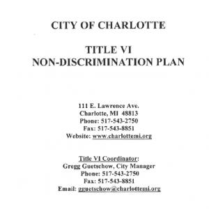 Title VI Non-Discrimination Plan